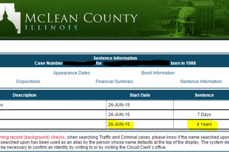 "Sentencing: ""Felony Scratching"""